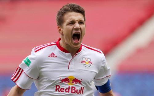 Oft gesehen und mit Erfolg für RB Leipzig verbunden - Daniel Frahn beim Torjubel, der leider zu selten war, um auf Platz 1 zu stehen | © GEPA pictures/ Roger Petzsche