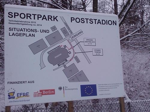 Lageplan Poststadion