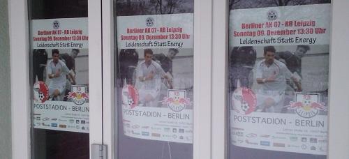 Spieltagsplakat Berliner AK vs. RB Leipzig