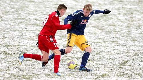 Schnee und Kampf - RB Leipzig gegen Germania Halberstadt und die besonderen Umstände | © GEPA Pictures - Roger Petzsche