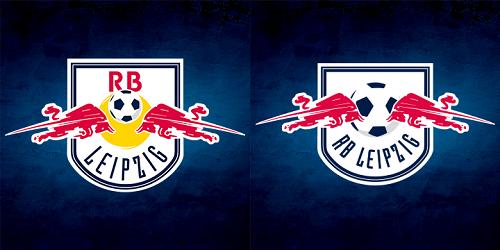 Das alte und das neue Logo von RB Leipzig im Vergleich | Quelle: RB Leipzig Facebook-Page