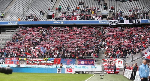 Dreimal mehr RB-Fans als einst zu 1860 München reisen zum FC Bayern München. | GEPA Pictures - Roger Petzsche