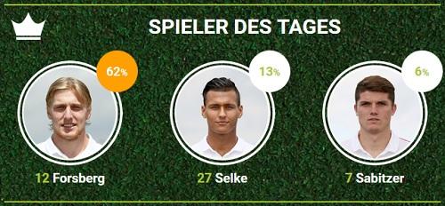 Spieler des Spieltags 12 bei fan-arena.com