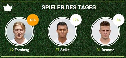 RB-Spieler des Spieltags 26 gegen den TSV 1860 München bei fan-arena.com