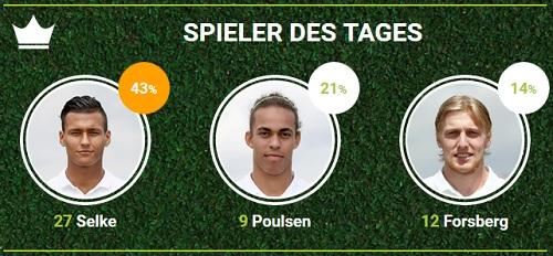 RB-Spieler des Spieltags 27 zwischen Nürnberg und Leipzig bei fan-arena.com