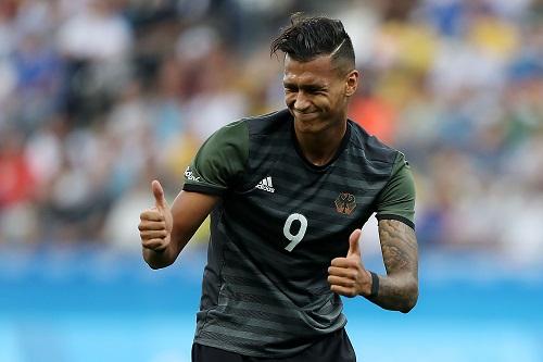 Jubelt meist nur im Trikot der Nachwuchsnationalmannschaft: Davie Selke. Photo by Alexandre Schneider/Getty Images