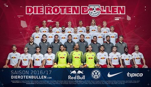 Teamfoto RB Leipzig 2016/2017, schon von der Transferrealität überholt | GEPA Pictures