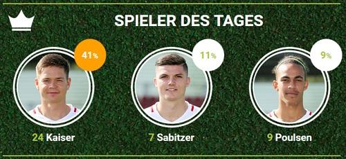 RB-Spieler des zweiten Spieltags gegen den BVB bei fan-arena.com