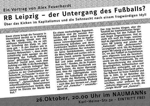 RB Leipzig - der Untergang des Fußballs?