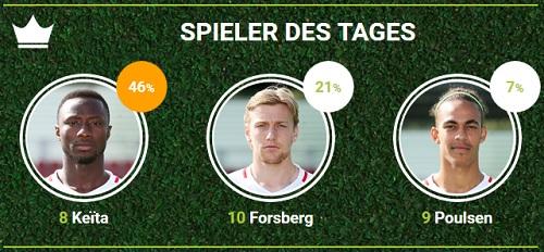 RB-Spieler des achten Spieltags bei fan-arena.com