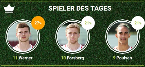 RB-Spieler des 6.Spieltags gegen den FC Augsburg bei fan-arena.com