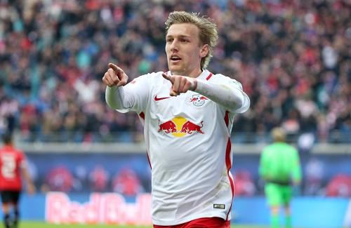 Machte in der Bundesliga enorm auf sich aufmerksam und trägt nun zur Gerüchteküche bei: Emil Forsberg. | GEPA Pictures - Roger Petzsche