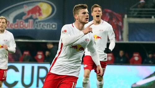 Leitete den Sieg mit seinem 1:0 ein. Timo Werner einmal mehr in Jubelstimmung. | GEPA Pictures - Sven Sonntag