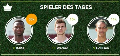 RB-Spieler des 16.Spieltags bei Bayern München bei fan-arena.com