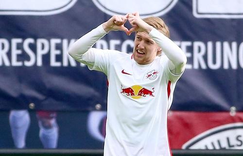 Emil Forsberg brachte RB Leipzig gegen den 1.FC Köln früh auf die Siegerstraße. | GEPA Pictures - Kerstin Kummer