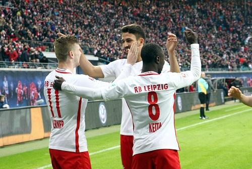 Drei Gewinner des Spiels gegen den 1.FC Köln: Timo Werner, Naby Keita und Rani Khedira. | GEPA Pictures - Kerstin Kummer