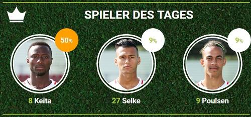 RB-Spieler des 18.Spieltags in Dortmund bei fan-arena.com