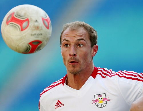 Matthias Morys hatte bei RB Leipzig trotz Regionalliga-Umfeld nur Augen für den Ball. | GEPA Pictures - Roger Petzsche