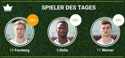 RB-Spieler des 23.Spieltags beim FC Augsburg bei fan-arena.com