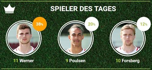 RB-Spieler des 29.Spieltags gegen den SC Freiburg bei fan-arena.com