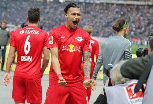 Davie Selke jubelte einst für RB gegen Hertha und nun für Hertha gegen RB? [ GEPA Pictures - Roger Petzsche