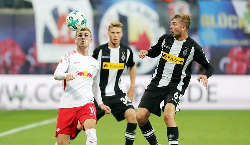 Timo Werner machte gegen Mönchengladbach das 1:0 für RB Leipzig. | GGEPA Pictures - Sven Sonntag