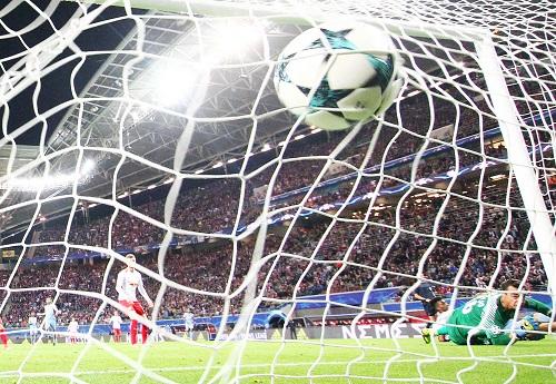 Im Hinspiel gegen den AS Monaco konnte RB Leipzig das erste Tor in der Champions League und den ersten Punkt feiern. | GEPA Pictures - Kerstin Kummer