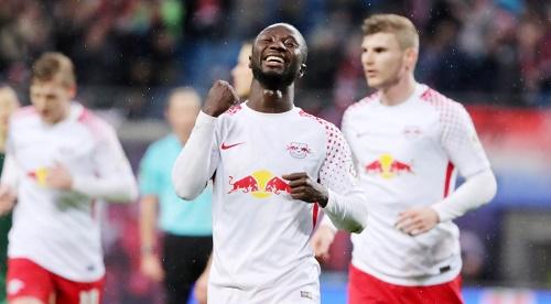 Naby Keita darf auch bis zum Sommer im Trikot von RB Leipzig jubeln. | GEPA Pictures - Sven Sonntag