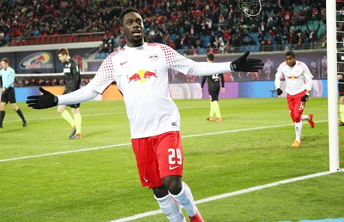 Jean-Kevin Augustin glaubt, dass er nun sportlich bei RB Leipzig angekommen ist. | GEPA Pictures - Kerstin Kummer
