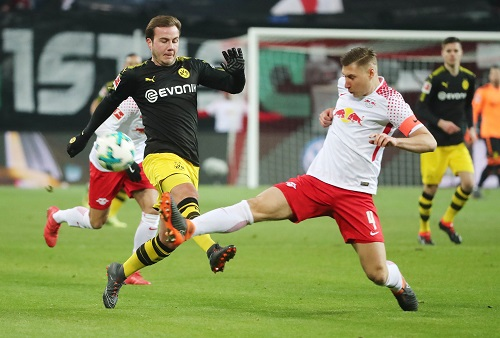Viel gekämpft und viel investiert, aber am Ende reichte es für RB Leipzig gegen Borussia Dortmund nur zum 1:1. | GEPA Pictures - Kerstin Kummer