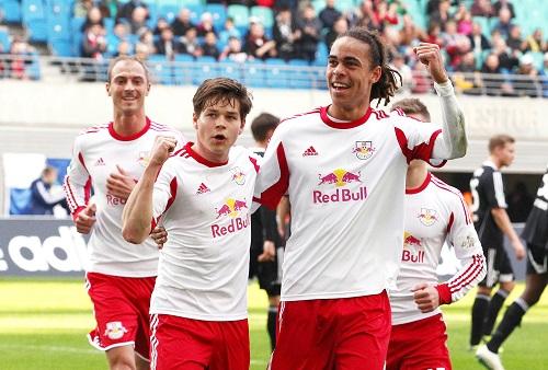Yussuf Poulsen übernimmt künftig bei RB Leipzig von Dominik Kaiser die Rolle als dienstältester Akteur. | GEPA Pictures - Sven Sonntag