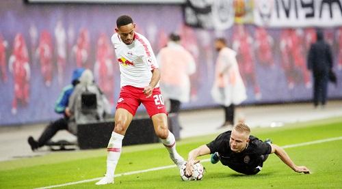 Zorya Luhansk versuchte es mit allen Mitteln, scheiterte am Ende aber knapp an RB Leipzig. | GEPA Pictures - Sven Sonntag