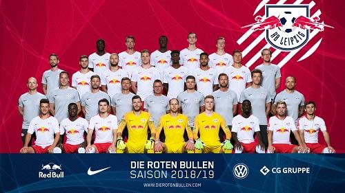 Teamfoto von RB Leipzig von Mitte August. | GEPA Pictures