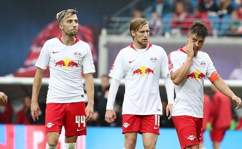 Außer Aufwand nichts gewesen. RB Leipzig mit einem enttäuschenden 1:1 gegen Fortuna Düsseldorf. | GEPA Pictures - Roger Petzsche