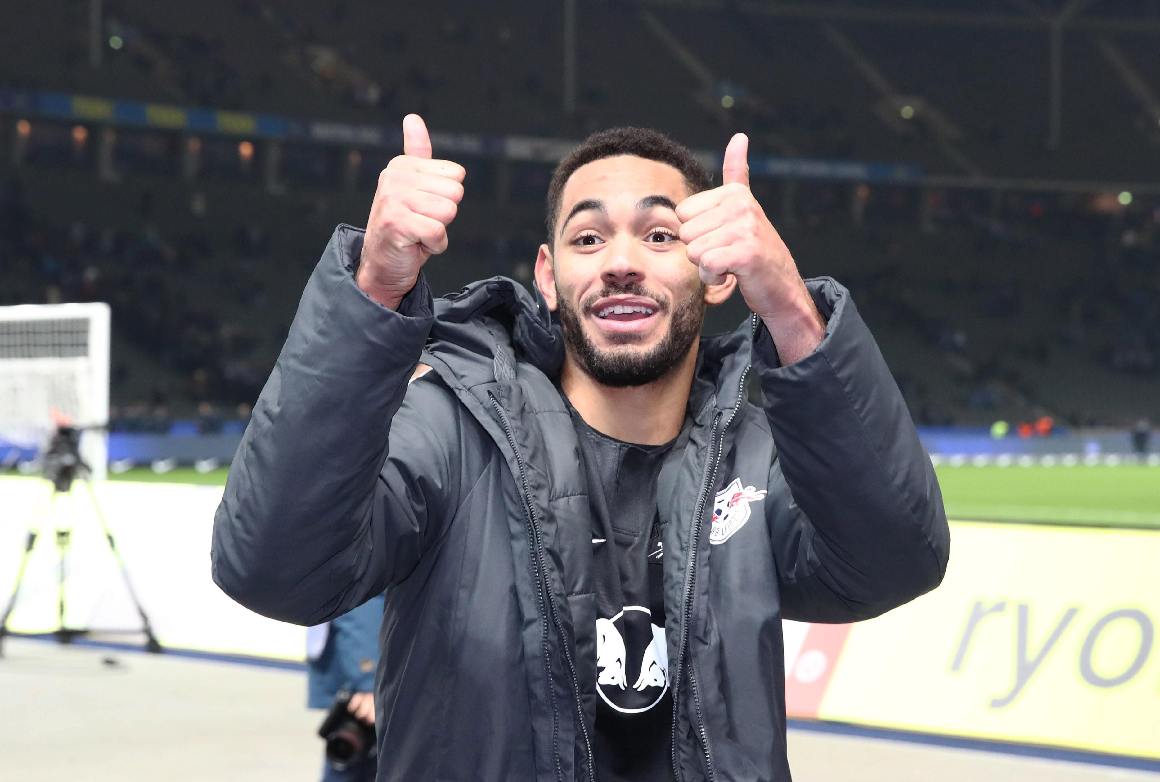 Matheus Cunha darf sich über sein erstes Tor für RB Leipzig in der Bundesliga freuen. | GEPA Pictures - Roger Petzsche