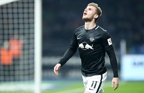 Zwei Tore im Spiel bei Hertha BSC, aber für die Partie in Glasgow fraglich: Timo Werner | GEPA Pictures - Roger Petzsche