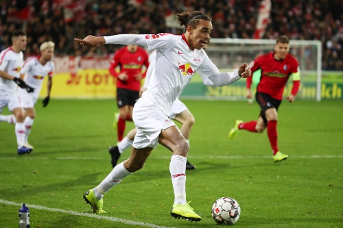 Yussuf 'Kämpferherz' Poulsen war mal wieder einer der wenigen Lichblicke bei RB Leipzig. | GEPA Pictures - Roger Petzsche