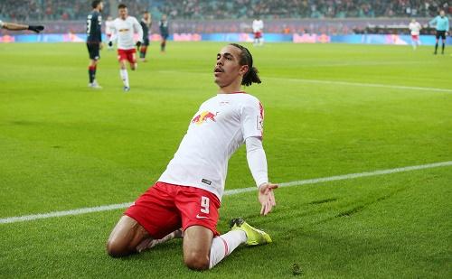 Matchwinner Yussuf Poulsen, derzeit bei RB Leipzig einfach unersetzlich. | GEPA Pictures - Roger Petzsche