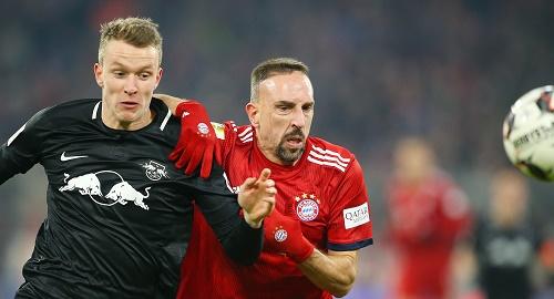 Einmal konnte sich Ribery gegen RB Leipzig durchsetzen. Reichte zum 1:0-Sieg. | GEPA Pictures - Thomas Bachun