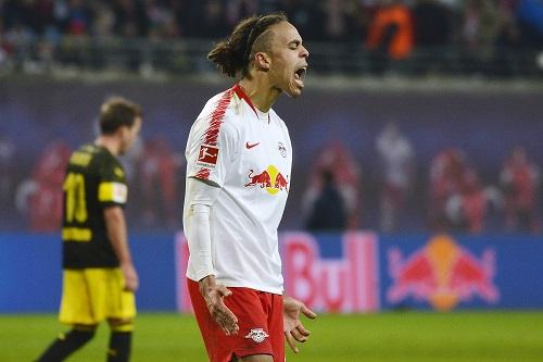 Yussuf Poulsen ackerte viel, zu einem Tor für RB reichte es aber nicht. | Foto: Dirk Hofmeister