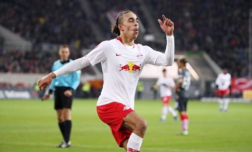Yussuf Poulsen war mit zwei Toren der Matchwinner für RB in Düsseldorf. | GEPA Pictures - Sven Sonntag
