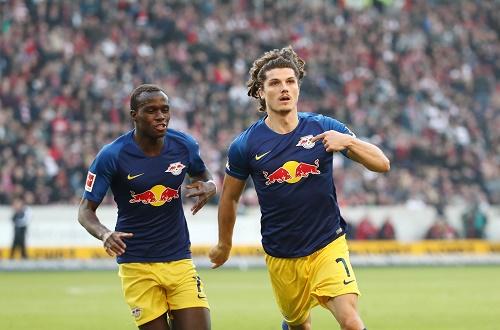Marcel Sabitzer durfte endlich mal wieder jubeln und erzielte einen extrem wichtigen Treffer in Stuttgart. | GEPA Pictures - Roger Petzsche