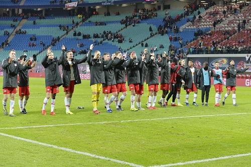 Voller Kader, voller Erfolg? RB Leipzig will in der Rückrunde noch viel feiern. | Foto. Dirk Hofmeister