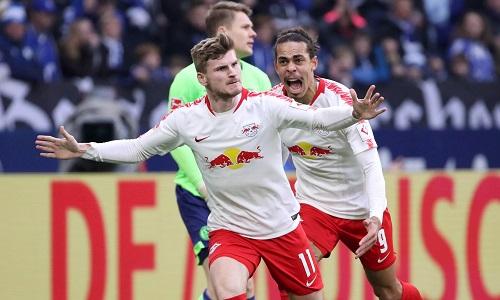 Timo Werner schießt RB Leipzig zum Sieg auf Schalke. | GEPA Pictures - Sven Sonntag