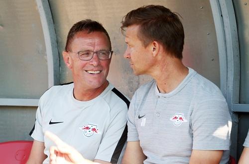 Ralf Rangnick muss sich zum Saisonende von RB-Co-Trainer Jesse Marsch verabschieden. | GEPA Pictures - Roger Petzsche