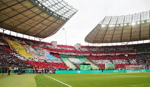 RB Leipzig gegen Bayern München im DFB-Pokal vor dem Spiel. | GEPA Pictures - Sven Sonntag