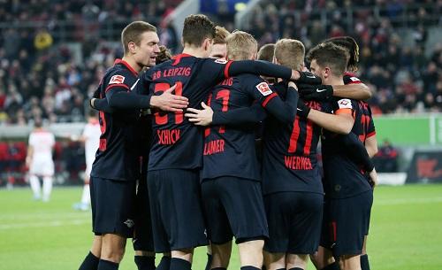 Viel Grund für ausgelassene Jubelszenen bei RB Leipzig in der Hinrunde der Saison 2019/2020. (GEPA Pictures - Sven Sonntag)